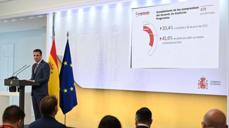 Sánchez defiende haber cumplido uno de cada tres compromisos electorales