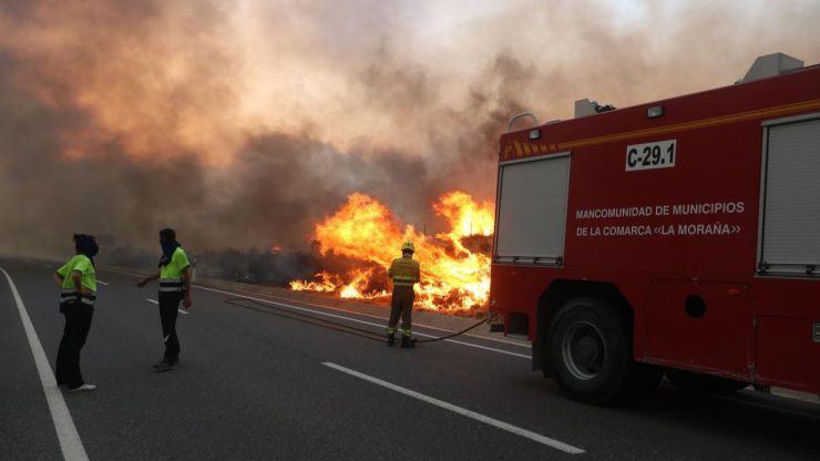 Incendios en Ávila: Pueblos desalojados y miles de hectáreas calcinadas