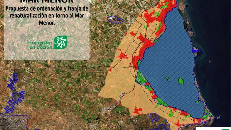 Crisis en el Mar Menor: Ecologistas en Acción propone la creación de una franja renaturalizada