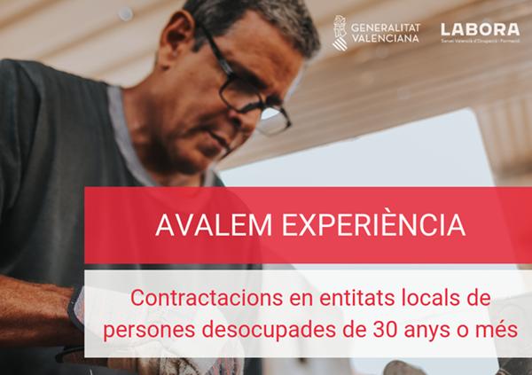 Comunitat Valenciana contratarán a personas desempleadas a partir de 30 años