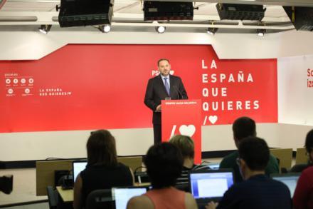 """Ábalos: """"El veto de Ciudadanos al PSOE es incomprensible"""""""