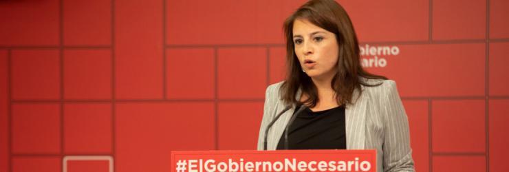 Adriana Lastra pide a todos los diputados del Congreso que apoyen los Presupuestos