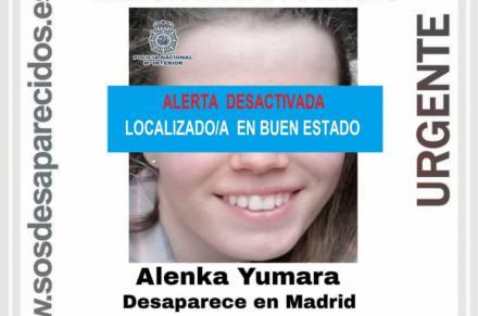 Encuentran a Alenka Yumara, la menor que desapareció en Madrid