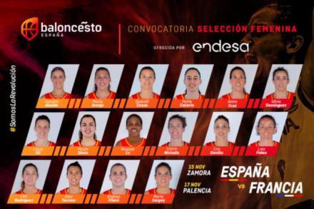 La Selección Femenina de Baloncesto regresa con una convocatoria de 16 jugadoras