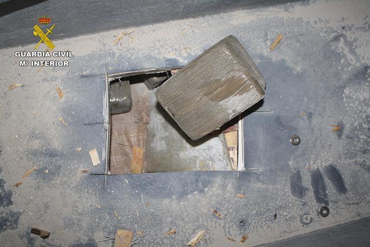 La Guardia Civil desarticula una organización criminal dedicada a introducir grandes cantidades de hachís en España