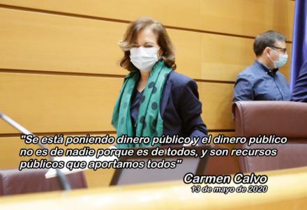 Carmen Calvo admite