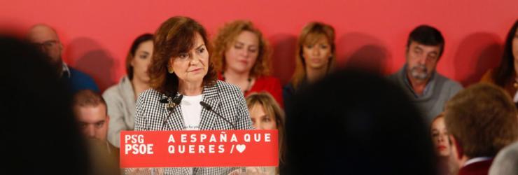 Carmen Calvo: PP y Cs, al no contener a la ultraderecha, colocan al PSOE en el centro de la esperanza de los demócratas