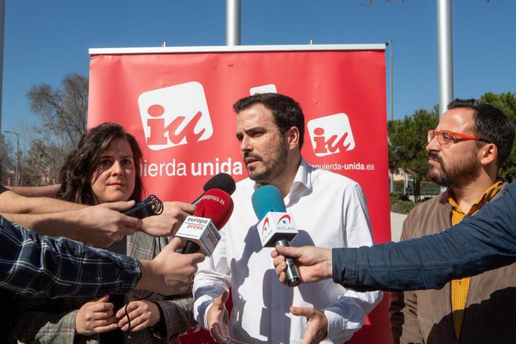 """Garzón: """"Cuanta más fuerza tenga Unidas Podemos e IU mejor van a ser las legislaciones que puedan venir"""""""