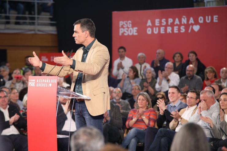 """Pedro Sánchez: """"Solo los socialistas representamos la España incluyente"""""""