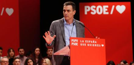 """Sánchez: """"La derecha con tres siglas no va a parar a una sociedad que quiere avanzar y progresar"""""""