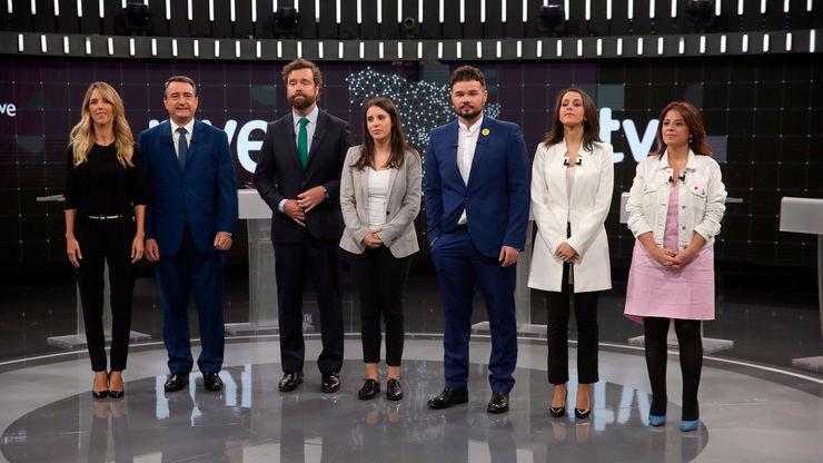 'El debate a 7 de RTVE' (16,4%) lidera frente a 'Volverte a ver' (11,7%)