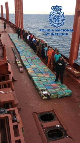 Interceptadas en Ecuador más de 5,5 toneladas de cocaína destinadas a España