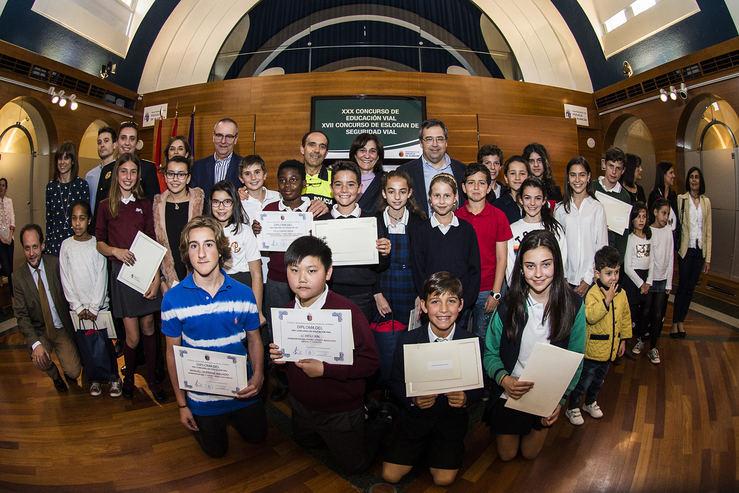 Pozuelo premia a los escolares de la ciudad por sus trabajos sobre educación y seguridad vial