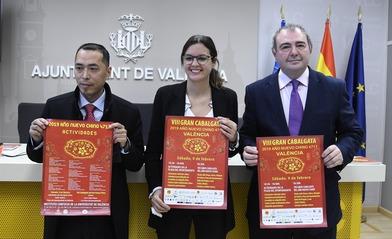El año nuevo Chino se muestra en el centro de la ciudad de Valéncia
