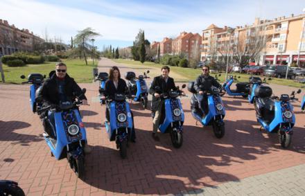 Las Rozas pone en marcha un proyecto pionero de moto-sharing en el Parque Empresarial