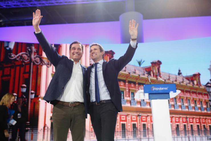 """Moreno: """"Este partido es la columna vertebral de España"""""""