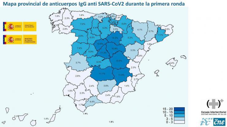 El estudio de seroprevalencia desvela que solo un 5% de la población española ha pasado ya el coronavirus