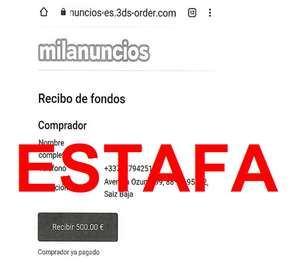 Alerta Phishing: 'MILANUNCIOS'