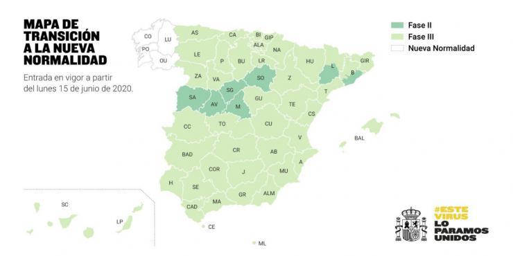 Galicia estrenará la 'nueva normalidad' el próximo lunes y solo siete provincias se quedan estancadas en la 'Fase 2'