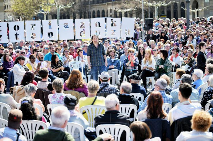 Pablo Iglesias aboga por una banca pública