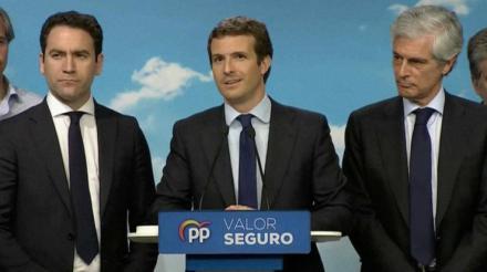 Derrota histórica del PP con Casado al frente