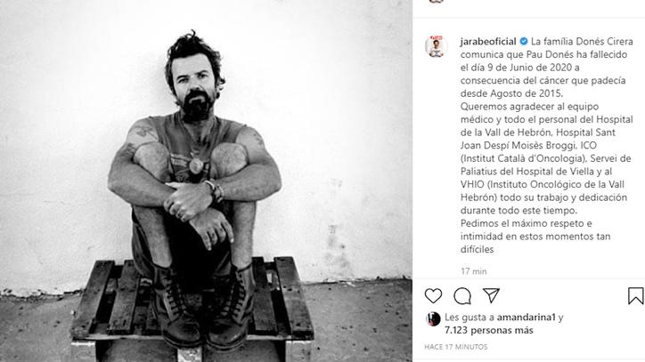 El cáncer se lleva a Pau Donés tras cinco años de lucha incansable
