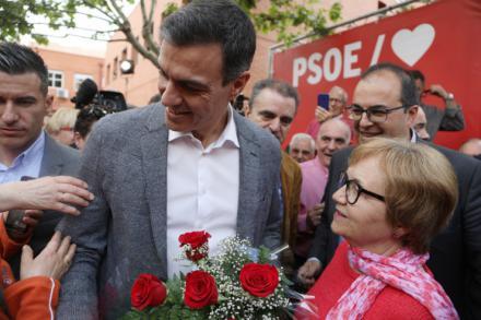 """Sánchez: """"Si el 28-A continúo siendo presidente, los jubilados y jubiladas van a tener unas pensiones dignas"""""""