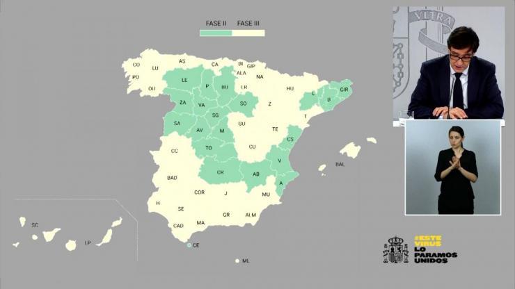 Hacia la 'nueva normalidad': Más de la mitad de España estará el lunes en la fase 3 de la desescalada