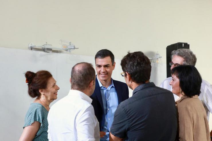 Sánchez comienza una nueva ronda de contactos apostando por la necesidad de impulsar la transición ecológica