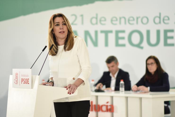 Susana Díaz pide unidad al PSOE frente a la extrema derecha