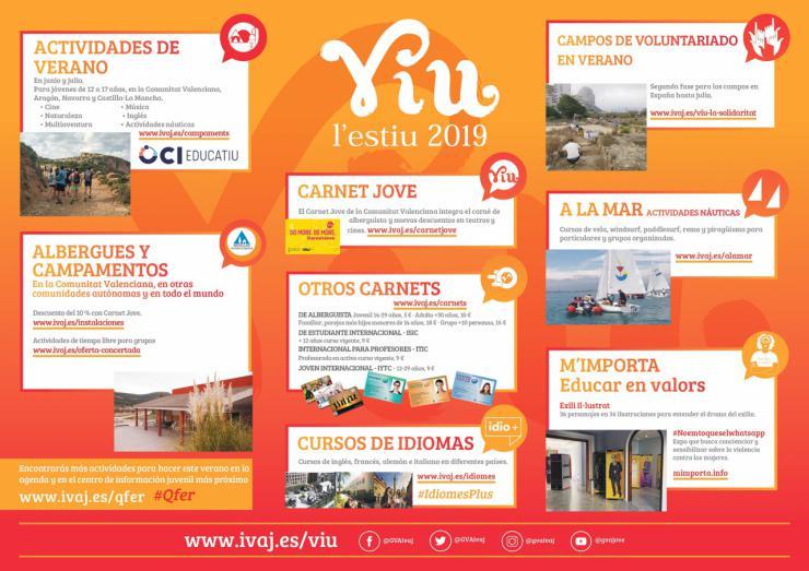 EL IVAJ abre 'Viu l'Estiu 2019' en la Comunitat Valenciana