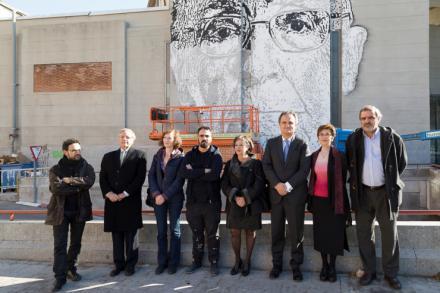Saramago, protagonista del primero de los seis grandes murales que llenarán Madrid