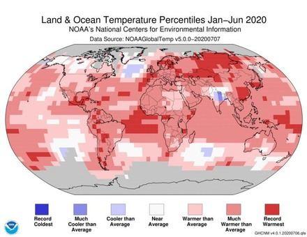 Asia, Europa y Sudamérica registran el primer semestre del año más cálido desde 1910