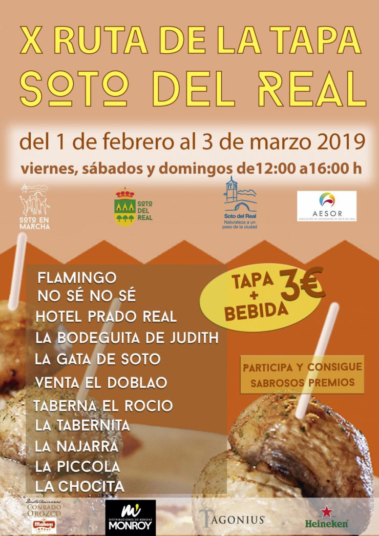Más de 30 tapas participan en la X Ruta de la Tapa de Soto del Real
