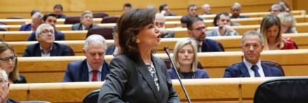 Carmen Calvo insta al PP a no volver a enfrentar a Cataluña con España