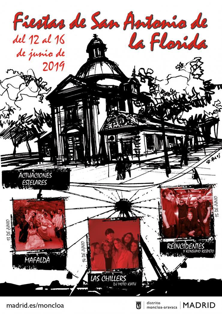 Mafalda, Las Chillers y Reincidentes actuarán en las Fiestas de San Antonio de la Florida