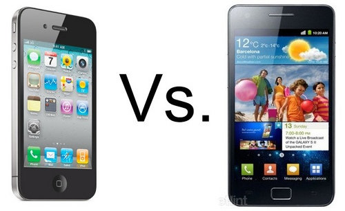 Samsung Galaxy S2 vs iPhone 5